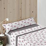 Burrito Blanco - Juego de sábanas tejido de Coralina 936 para cama 90x190/200 cm, color gris