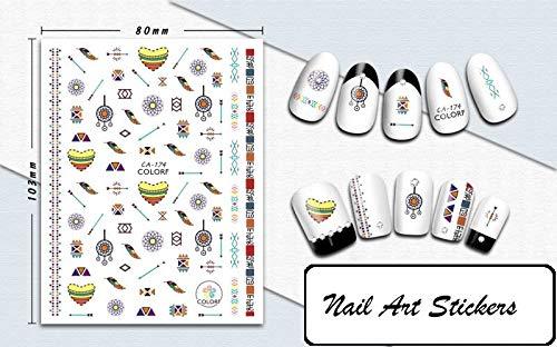 Nail Art Sticker in verschiedenen Designs, Figuren, Blumen, Vögel, Emojis, Katzen, Hunde, Weihnachten