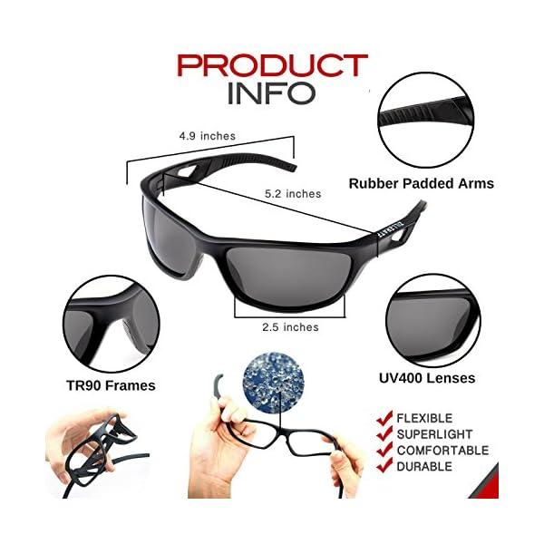 3efce9984e ZILLERATE Mens Womens Polarised Sports Sunglasses