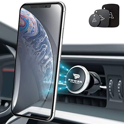 Power Theory Magnet Handyhalter fürs Auto - Handyhalterung Auto Lüftung Handy Halter für iPhone XS Max X 8 7 Plus 6s SE Samsung S10 S9 S8 S7 S6 Smartphone Halterung Universal Autohalterung (Iphone 6 Fall Audi Logo)