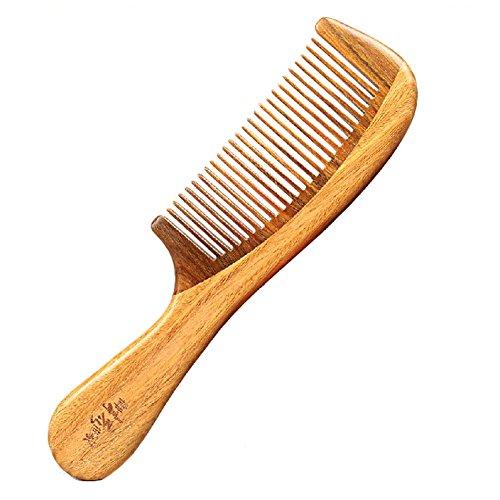 élégant peigne portable/peigne antistatique/peigne en bois, marron