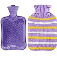 Wärmflaschen, Naturkautschuk und weicher Strickschutz aus Baumwolle, um warm und bequem zu bleiben (größe : Purple S) preisvergleich bei billige-tabletten.eu