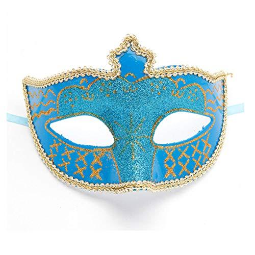 aske weibliche halbe Gesicht Prinzessin Maske Make-up Party Kinder Maske Cosplay fuchsmaske weiblich (Color : Orange) ()