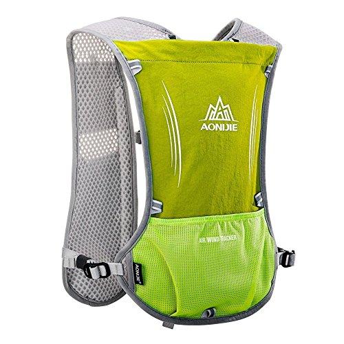 Imagen de aonijie upgrade hidratación ciclismo chaleco reflectante marathoner pack  con vejiga 2l agua deporte al aire libre carrera, verde alternativa