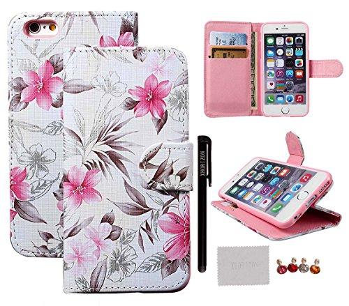 """Hülle für iPhone 6 6S, xhorizon [Stand Funktion] [Brieftasche Funktion] [Magnetverschluss] Für Apple iPhone 6 (4.7"""") Kontrastfarbe Leder Dünn Brieftasche TelefonCase Hülle mit Kredit- / Visiten / ID- #2"""
