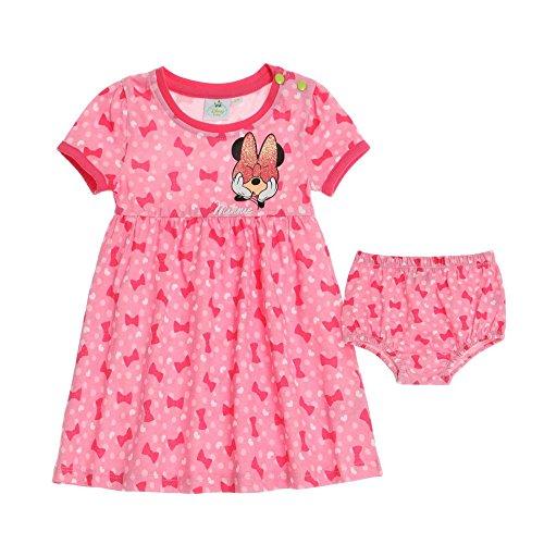 (Disney Minnie Kleid mit Höschen, rosa, Gr. 62-92 Größe 92)