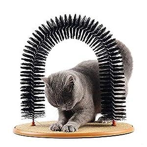 peluquería gato: Queta Masajeador de Mascotas Arco de Gato Auto Groomer Masajeador Cepillos Masaj...