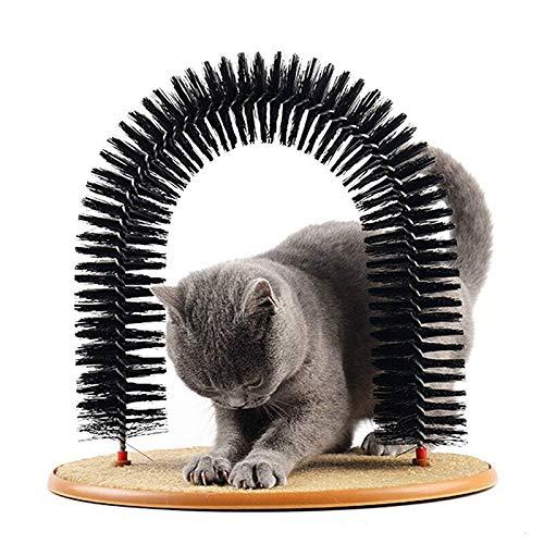 Queta Masajeador de Mascotas Arco de Gato Auto Groomer Masajeador Cepillos Masajeador Masajeador Mascotas Cachorro Gato Rascador Juguetes Peluquería Gato