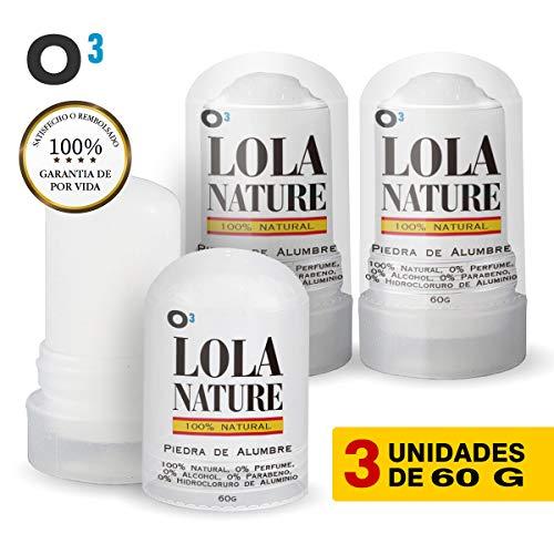 O³ Piedra De Alumbre Lola Nature - 3 Unidades * 60