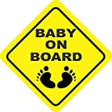#2: isee360 Reflective Car Safety Baby On Board Decal Sticker Decorative & Safety