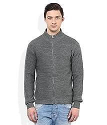 Numero Uno Grey High-Neck Sweater (XXX-Large)
