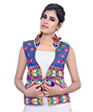 Banjara Women's Jacket (MJK-CHK04_Blue_Free)