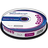 Bluray MediaRange 25GB 10pcs BD-RE Spindel 2X