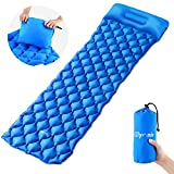 Glymnis Sleeping Mat Camping Mat with Pillow Inflatable Sleeping Pad Ultralight and Compact