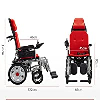 Electric Wheelchair Full-Lying Foldable Portable Wheelchair Elderly Elderly Scooter Can Sit