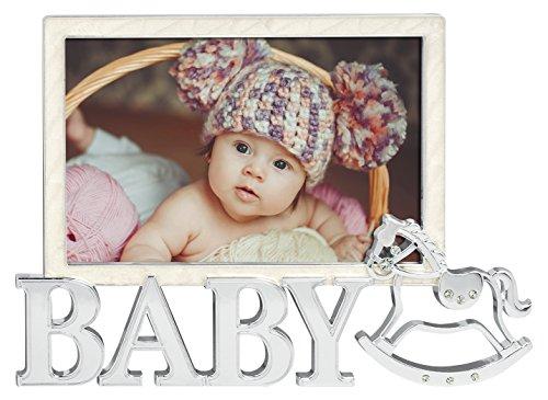 Unbekannt ZEP P1146Collection Baby Gabriel Bilderrahmen Metall Silber/Weiß 10x 15cm