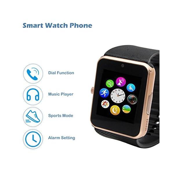GT08 Bluetooth SmartWatch SmartWatch con Ranura para Tarjeta SIM y la cámara de 2.0 megapíxeles para el iPhone/Samsung y… 5