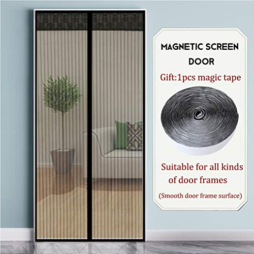 Magnet fliegengitter Verschlüsselung stumm schalten Automatisch geschlossen Keine Lücken Atmungsaktiv Anti-Moskito-Mesh-Vorhang,Haustierfreundlich,2,130x220cm -