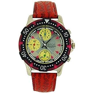 El cronógrafo de los hombres de la persona en 3 Sub analógico de plata del color rojo y correa de PU reloj 1404 G
