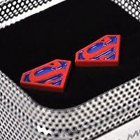 Superman gemelos - rojo en fondo azul