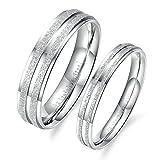1 Paar Hochzeit Ringe Eheringe Freundschaftsringe Verlobungsringe Silber Ringe Mit Ihre Laser Gravur Damen 52 (16.6) & Herren 54 (17.2)