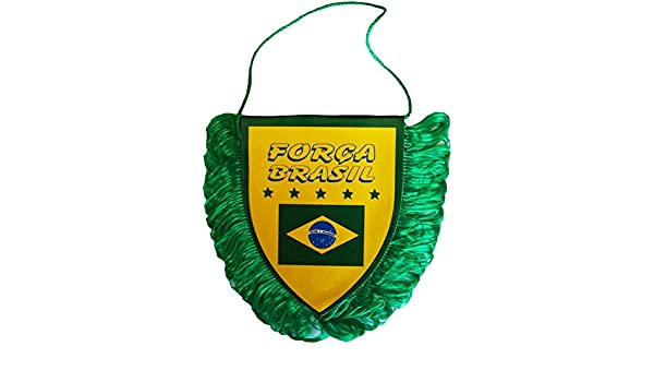 A chacun son Pays Fanion BRESIL Collection Supporter Football Brasil Taille 10 x 8 cm