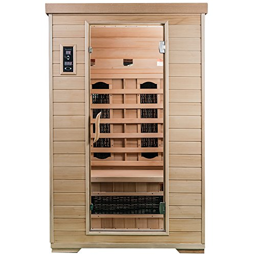 Saunamed 2Personen Classic Hemlock Weit Infrarot Sauna EMR neutraltm -