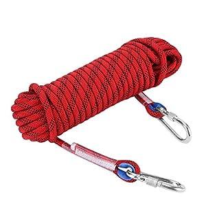 12mm Kletterseil mit Karabiner Sicherheitsseil Dauerhaft Survival Seil für Outdoor Aktivitäten