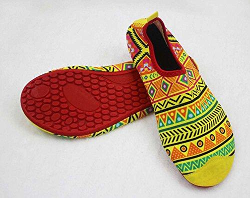 Chaussures de Sport Chaussures Eau Treadmill Chaussures de Randonnée Chaussures de Yoga Doux jaune vif