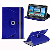 Blue Universal 7 Inch Premium PU Leather Folio Style Flip Wallet Case Cover Holder With Stand For Amazon Kindle Fire HDX 7', Amazon Fire HD 7', LINX 7 TABLET, Samsung Galaxy Tab 2 P3100 P3110 7, Samsung Galaxy Tab 3 Kids, Samsung Galaxy Tab 3 P3200 P3210 7 (Blue)
