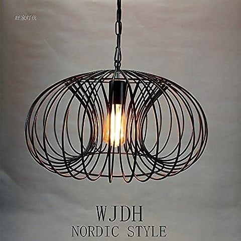 Nordico creativo d'epoca in ferro battuto bar lampadario di zucca semplice sala ristorante