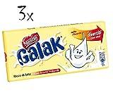 3x Nestle Galak milky bar schoko riegel italienishe weiß Schokolade