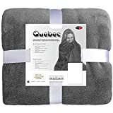CelinaTex Quebec Kuscheldecke 150x200 Mikrofaser Fleece Tagesdecke grau 5000984
