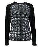 Spyder Damen Unterhemd Langarm Skiunterwäsche Funktionsshirt Styler 156538, Farbe:Schwarz,Artikel:-969 Black Drape Print/Black,Größe:S/M