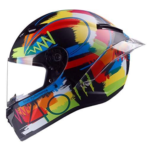 Full Face Motorradhelm Aquarell Retro Racing Schutzkappen Anti Fog Anti Crash Downhill Mountainbike Motocross Schutzkappen 55-64cm