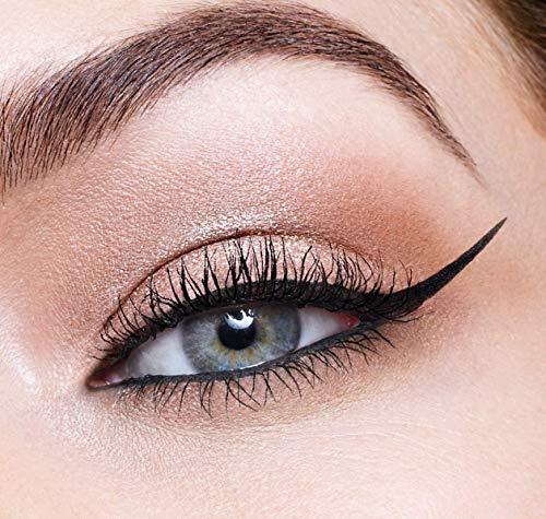 Maybelline New York Hyper Precise Eyeliner in Penna, Tratto Ultra-Sottile, Colore Ultra-Intenso a Lunga Tenuta, Nero (Black)