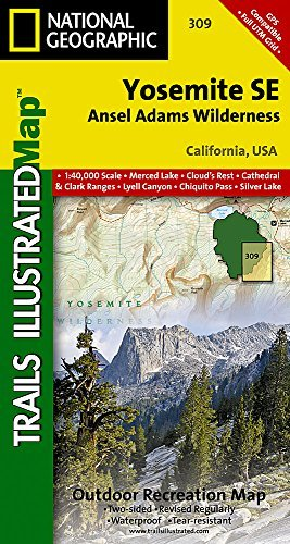Yosemite SE: Ansel Adams Wilderness (National Geographic Trails Illustrated Map) by National Geographic Maps - Trails Illustrated (2009-01-01)