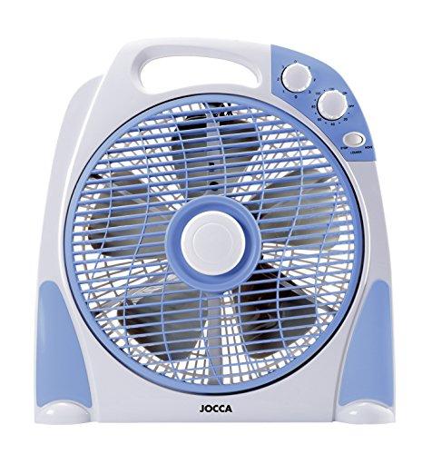 Jocca 2233 - Ventilador de sobremesa, color azul y gris
