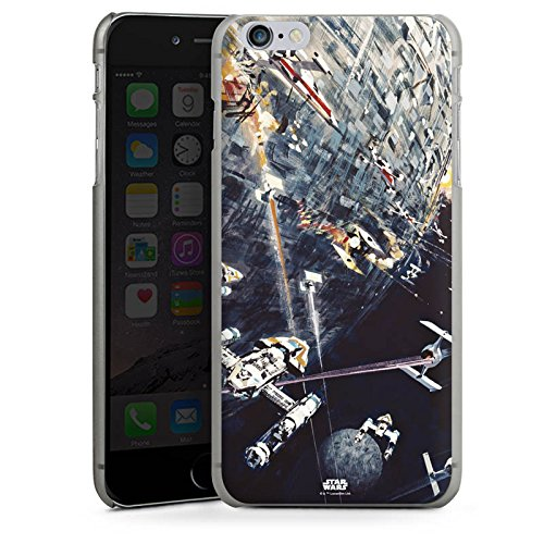 Apple iPhone 5s Hülle Case Handyhülle Star Wars Merchandise Fanartikel Todesstern Hard Case anthrazit-klar