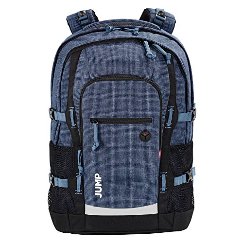 4YOU Basic Schulrucksack Jump 47 cm, Pixel Blue