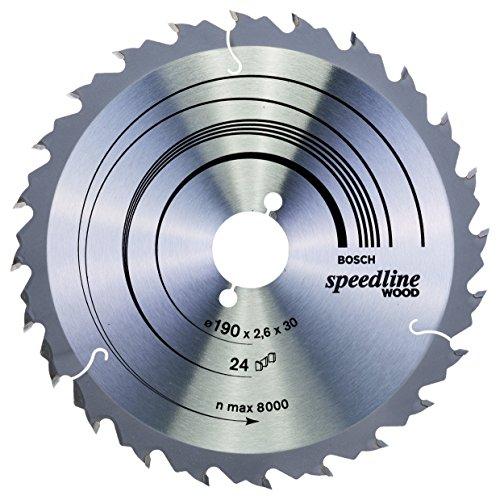Bosch Zubehör 2608640801 Kreissägeblatt Speedline Wood 190 x 30 x 2,6 mm, 24