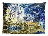 Abakuhaus Mandala Tapetto da Parete e Copriletto, Pizzo Batik Hippie Zen Yoga Largo Acchiappasogni Lucertole, Colori Che Non sbiadisce, 150x110 cm