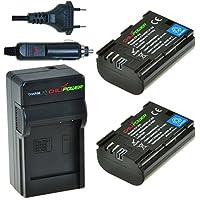 ChiliPower LP-E6 Kit; 2x Batterie (1850mAh) + Chargeur pour Canon EOS 6D, EOS 7D, EOS 60D, EOS 60Da, EOS 70D, Canon EOS 5D Mark II, EOS 5D Mark III