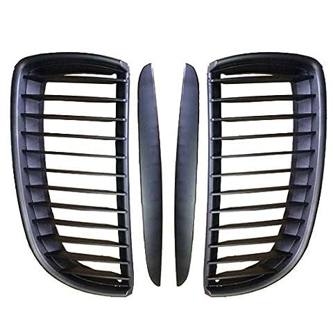 Elegant_Smart Matte Black Kidney Front Grill Grilles For BMW E90 E91 M3 3 Series 4Door 05-08