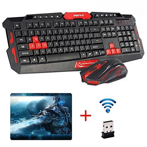 UrChoiceLtd® CityForm HK8100 Kabellos Multimedia Spiel Tastatur + 2,4 GHz 4 Tasten Maus S