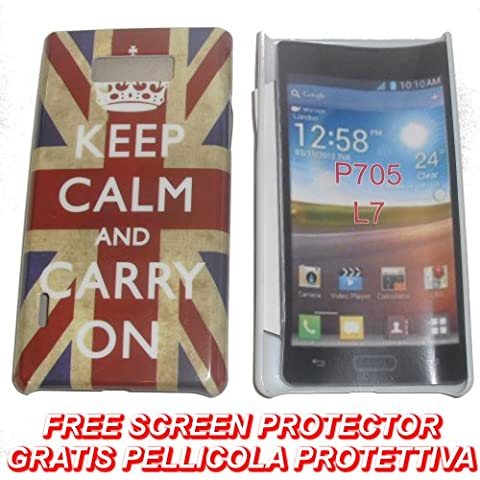 KGC_DOO Custodia + pellicola BACK COVER RIGIDA UK FLAG KEEP