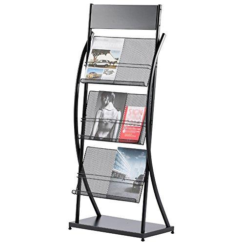 Porte-magazines et porte-journaux Etagères De Magasin Black Iron Simple Bookstand Landing Office Display Stand (taille : # 2)