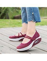 Zapatos de malla breathable para mujer,Sonnena Zapatos de malla Zapatos de plataforma de fondo grueso Air Cushion Zapatos de mujer Zapatos Rocking