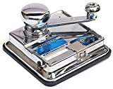 OCB MikrOmatic Duo Zigaretten Stopfmaschine, Chrom, Silber 15 x 15 x 10 cm