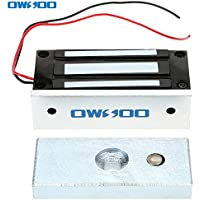 OWSOO 60KG / 132LBS Cerradura Magnética Electromagnética Fuerza Retención para Control Acceso Puerta Sistema Seguridad Fail-Safe NC Modo